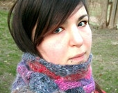 Entrelac Adjustable Triangle Scarf