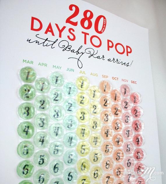Newborn Calendar Ideas : Ready to pop pregnancy countdown calendar