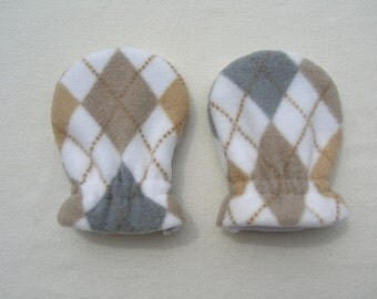 ARGYLE, Infant/Toddler Fleece Mittens