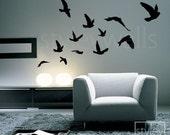 Flying Birds Set of 12 - Vinyl Wall Decal