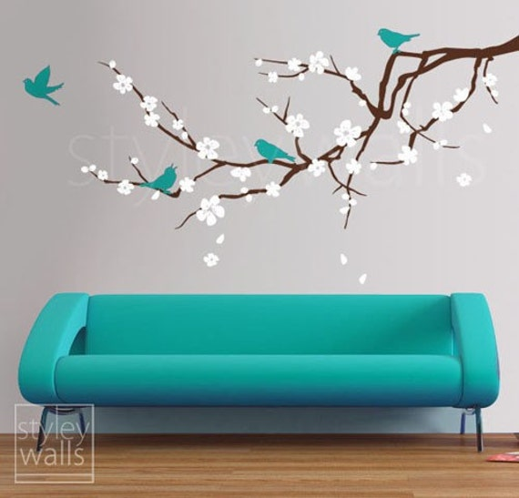 Japanese cherry blossom wall decal