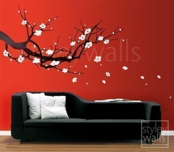 Cherry Blossom Tree Wall Decor from img0.etsystatic.com