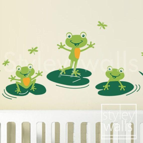 Frog Bathroom Wall Decor : Frogs wall decal bathroom by styleywalls