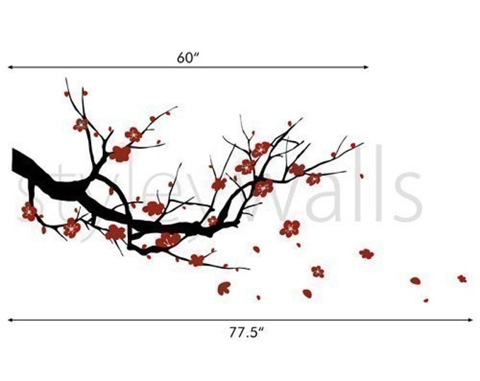 Wall Art Design Etsy Coupon Code : Off coupon on cherry blossom branch wall decals