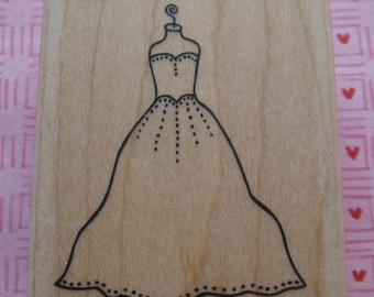 Gown (Dress, Wedding, Evening) - A Muse Rubber Stamp
