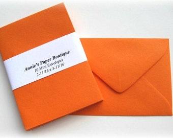 10 Mini Envelopes - Tangy Orange