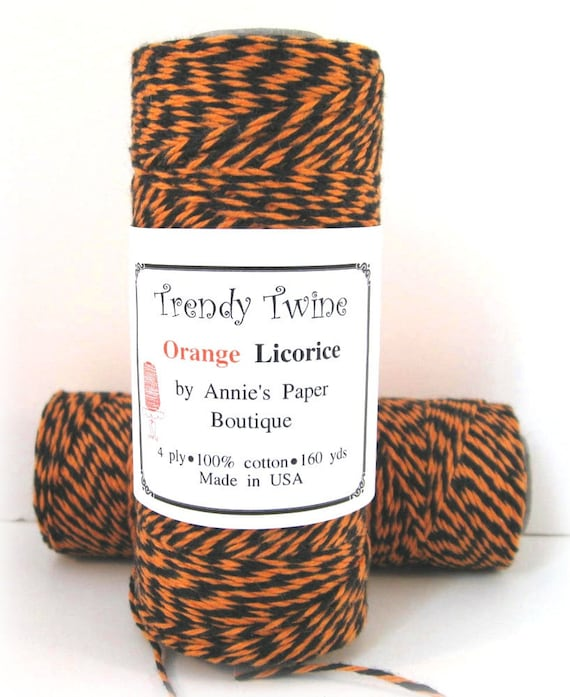 Halloween Bakers Twine by Trendy Twine - Orange Licorice Trendy Twine - Black and Orange Twine