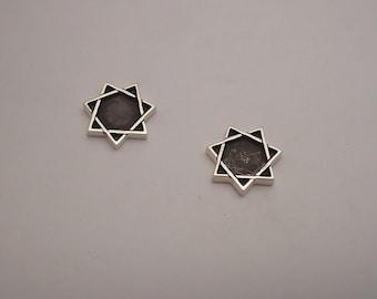Sterling Silver Babalon Stud Earrings