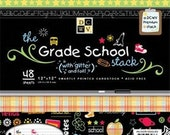The Grade School Stack - 48 Sheets - 12 inch by 12 inch - Card Stock - Acid Free By DCWV - Glitter and Foil