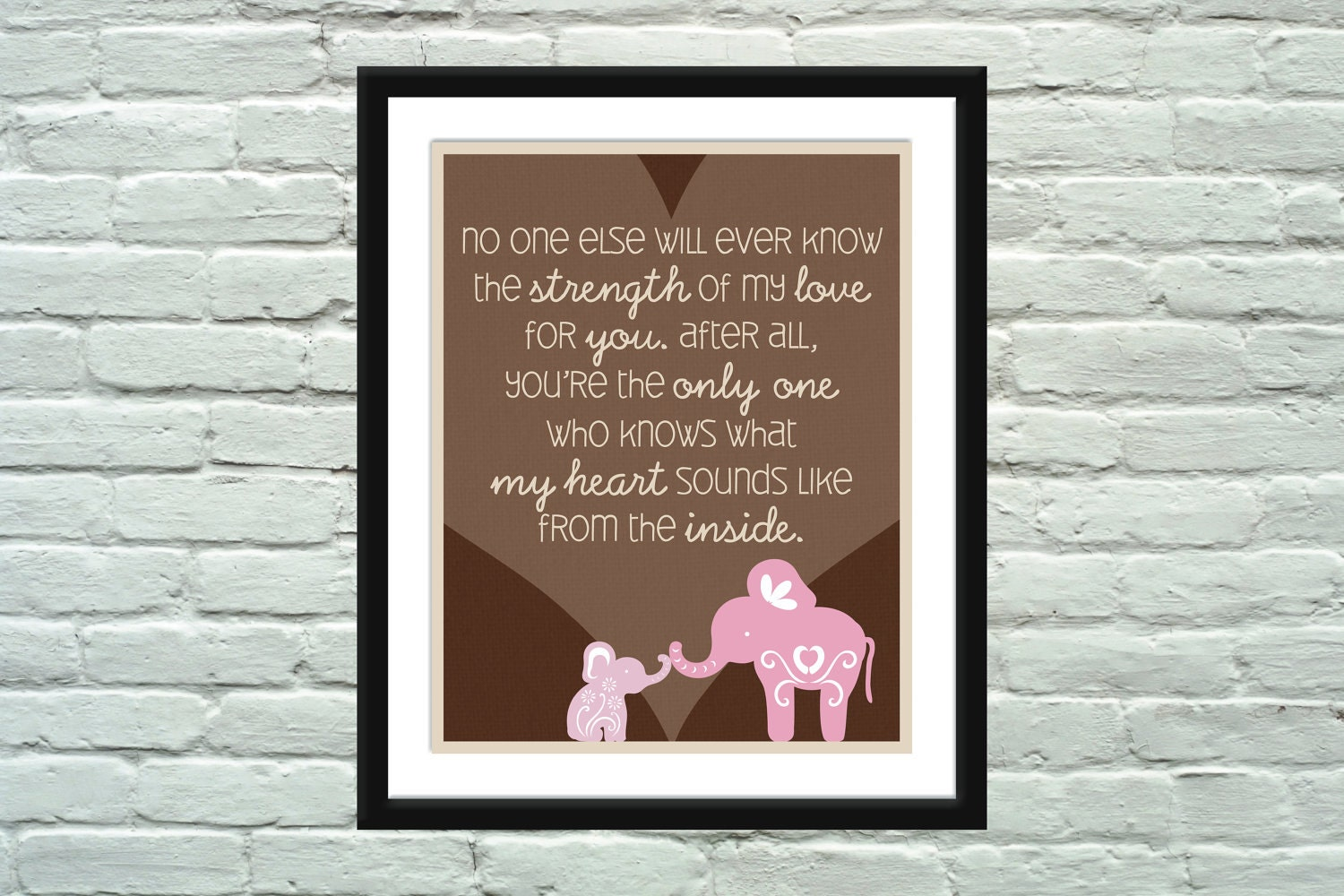 Elephant Good Luck Quote: Elephant Quote Poster / Print For Baby's Nursery