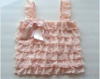 Blush pink ruffle top 3mo- 6 years sizes available