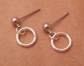"Surgical Steel Post Earrings - ""Single Small Hoop"" (Hypoallergenic Earrings for Sensitive Ears // Surgical Steel Stud Earrings)"