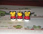 Mini Pokemon Pikachu and Pokeball Cellphone Charm