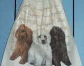 Poodle pup crocheted kitchen dish towel