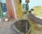 Black Walnut Log Slice Cheese Cutting board wood Cake Platter  Candle Stand & Cheese Knife 1