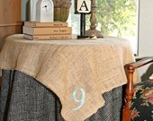 Monogrammed Table Topper