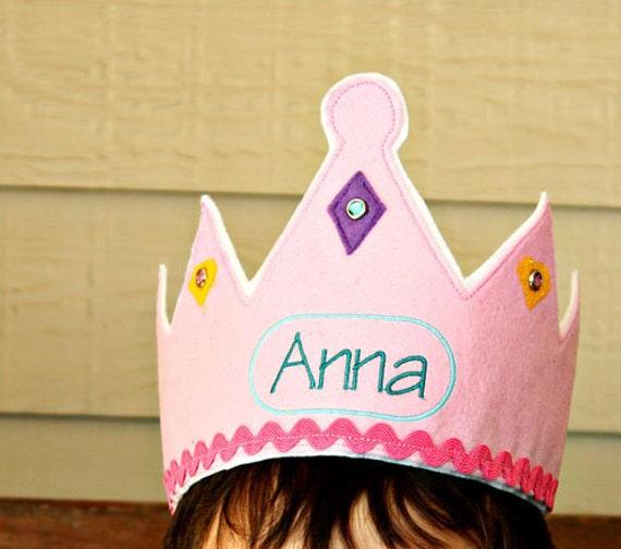 Monogrammed Girl's Crown