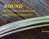 6 ft - 18g ROUND wire, ARGENTIUM sterling silver, dead soft, commercial supplies