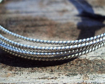 1 ft - 20g TWIST wire, dead soft, ARGENTIUM sterling silver, commercial supplies