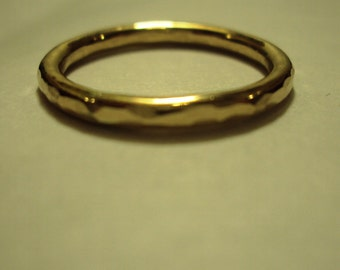 3 rings - 12g, etsy ewelry, faceted, Ring, gold, 14k, filled, hammered, light faceting, simple
