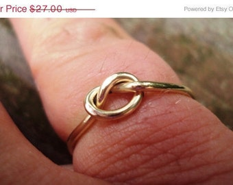 Love knot ring, Lovers knot ring, celtic knot ring, 16g, sturdy, strong, 14k, gold, filled, knot ring,