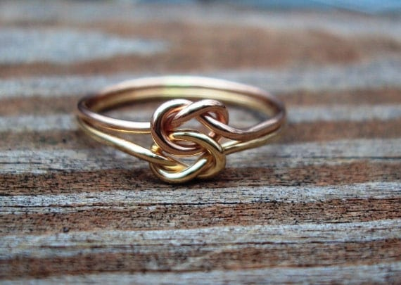 Etsy jewelry, love KNOT ring, celtic,14kt gf, arg ss,with priority shipping upgrade
