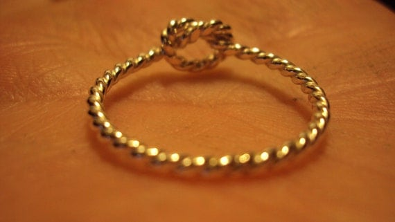 Etsy jewelry, twisted knot ring,14kt gold filled, 16g, 1.3mm, any size