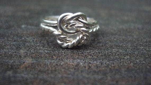Etsy  jewelry, ring, argentium ss, half twist, half plain, any size,