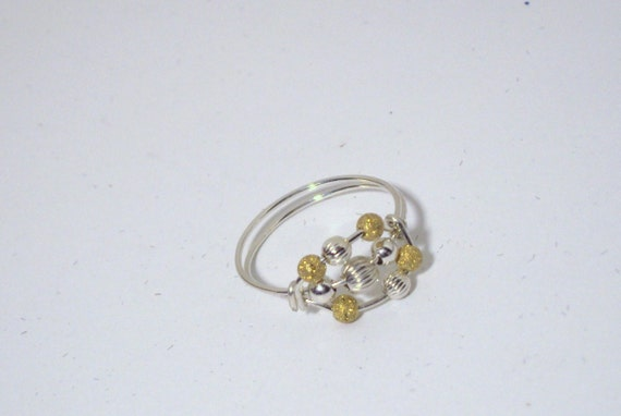 14kt gold filled argentium sterling silver worry ring, any size, including half and quarter