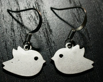 Silver Birdy Bird Earrings