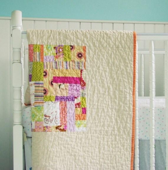 SALE Modern Baby Quilt