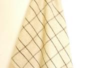 FENCE MINIMAL100% Pure Virgin Wool Minimal Mexican Blanket/Throw/Sarape/Poncho