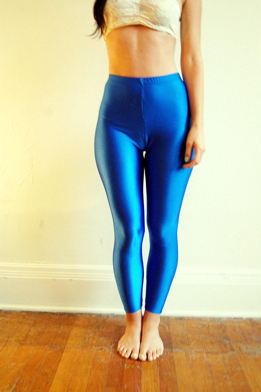 Blue Spandex Leggings