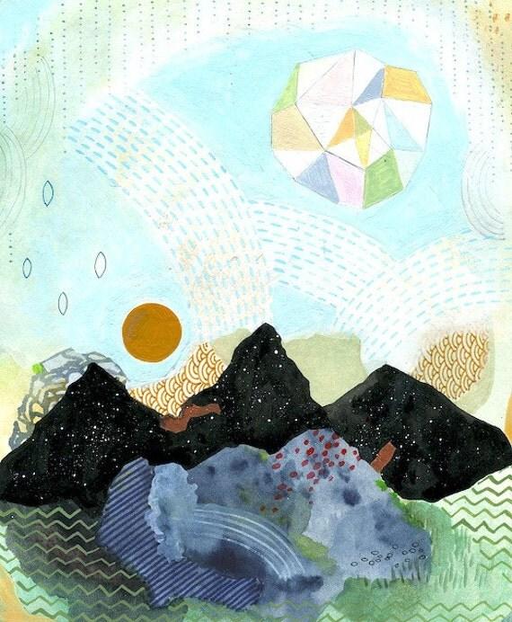 Cascade, art print 8 x 10