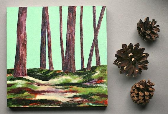 summer hike, 5 x 5 original