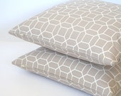 """Geometric Linen Cushion Covers-free shipping-18""""x18""""-only one cover"""