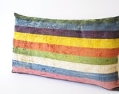SALE-Special Silk Velvet Ikat Pillow (stripes)-free shipping