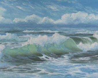 A Storm Approaching Paper Giclee Print Seascape Sunny Ocean by Carol Thompson