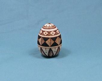 Pysanky Style Woodburning Egg