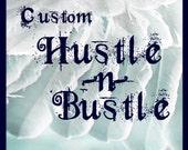 Custom for Bettina- TINY RIDER - w gold ribbon and