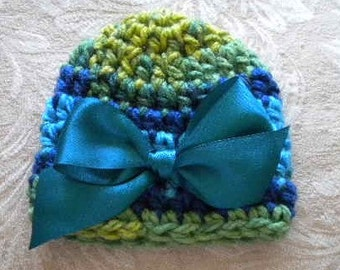 ON SALE Newborn Baby Girl Hat Hats for baby girls Hats for baby boys Crochet Hat With A Bow  Baby boy button hat Crochet infant hats