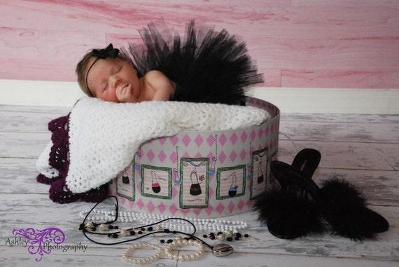 Newborn Tutu, Baby Tutu, Baby Girl Tutu, Infant Tutu, Newborn Photo Prop, Black Tutu, Black Skirt, Newborn Skirt,