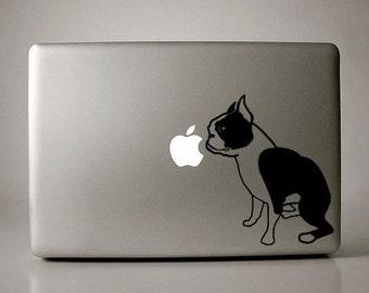 Boston Terrier Decal Laptop Macbook