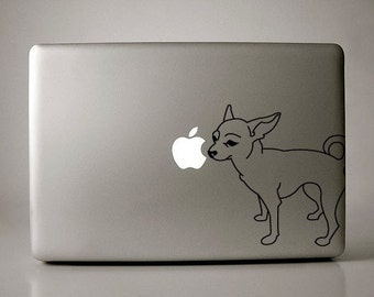 Chihuahua Decal Apple Macbook