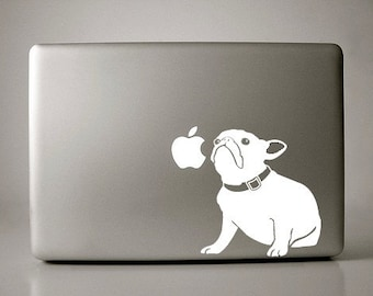French Bulldog Decal Macbook Apple Laptop