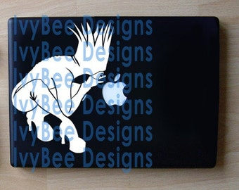 Bad Romance Lady Gaga-Inspired Apple Decal Macbook