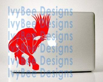Lipstick Red Bad Romance Lady Gaga Apple Decal Macbook