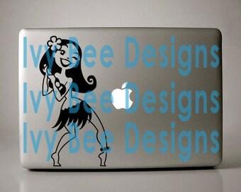 Hula Girl Vinyl Decal Laptop Apple Macbook