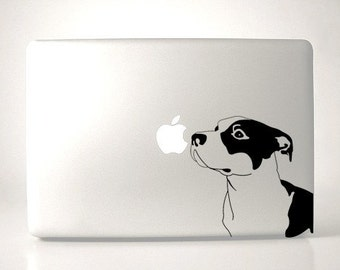 Pitbull Decal Macbook Apple Laptop