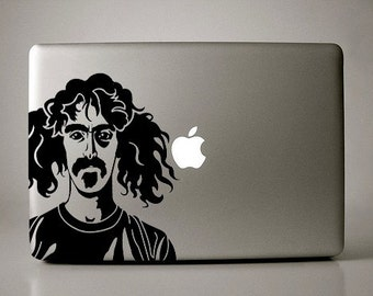 Frank Zappa Pigtails Decal Macbook Apple Laptop